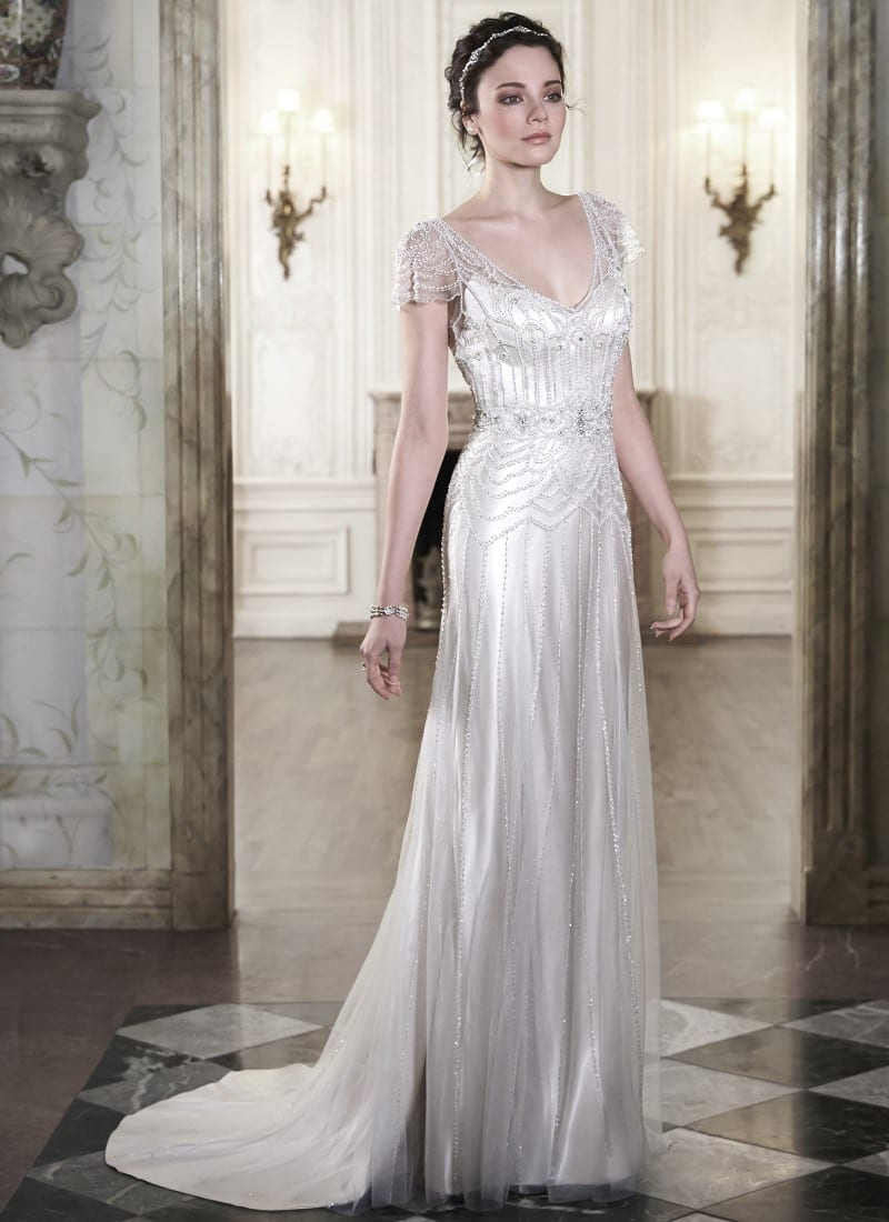 Spring wedding dress collection from Maggie Sottero. This is the 'Ettia' gown.