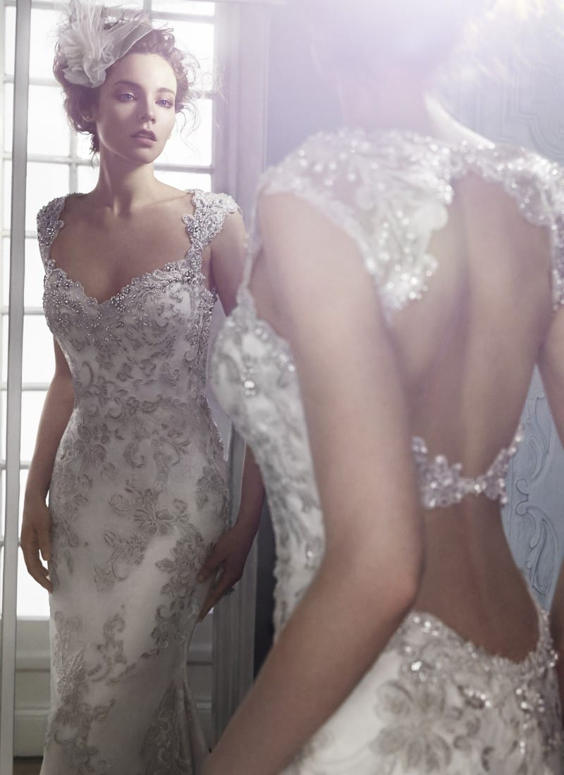 The Spring 2015 Maggie Sottero collection at Morgan Davies Hitchin, Hertfordshire boutique. Dress pictured - Jade.