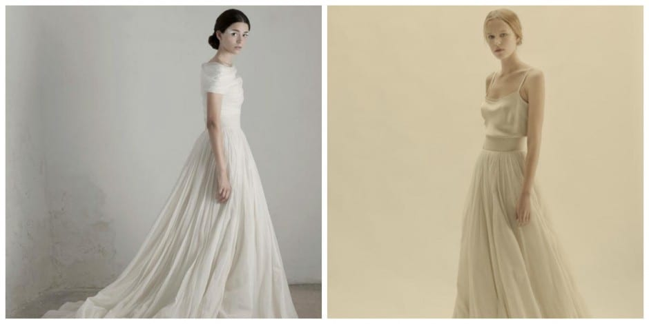 stunning two piece wedding dresses from cortana a spanish designer now available at morgan