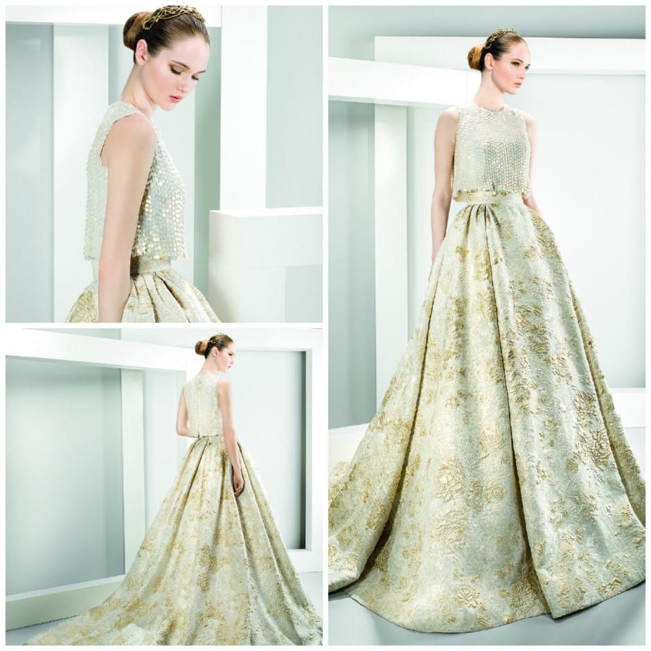 Two piece wedding dresses make their mark morgan davies for 2 piece wedding dresses