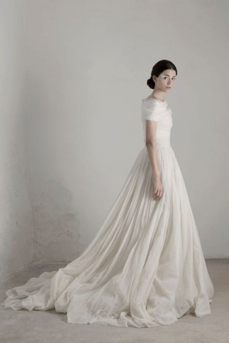 Cortana Bridal Gowns available at Morgan Davies London boutique.