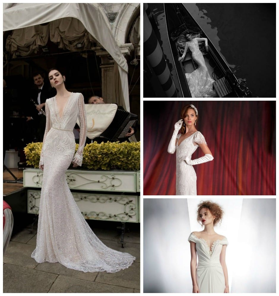 Deep V Necklines - Wedding Dress Trend Autumn 2015 - Morgan Davies Bridal.