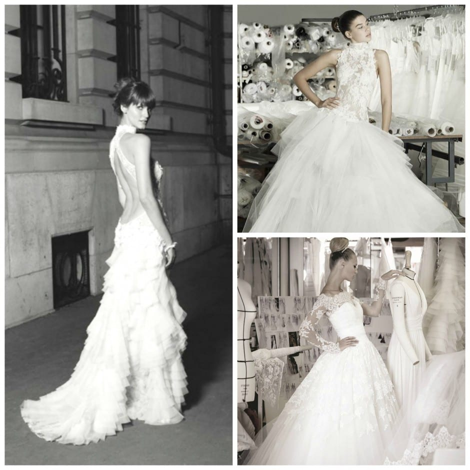 Cymbeline Bridal collection collage. New 2016 Cymbeline Collection is now available at Morgan Davies Bridal's Hitchin boutique.