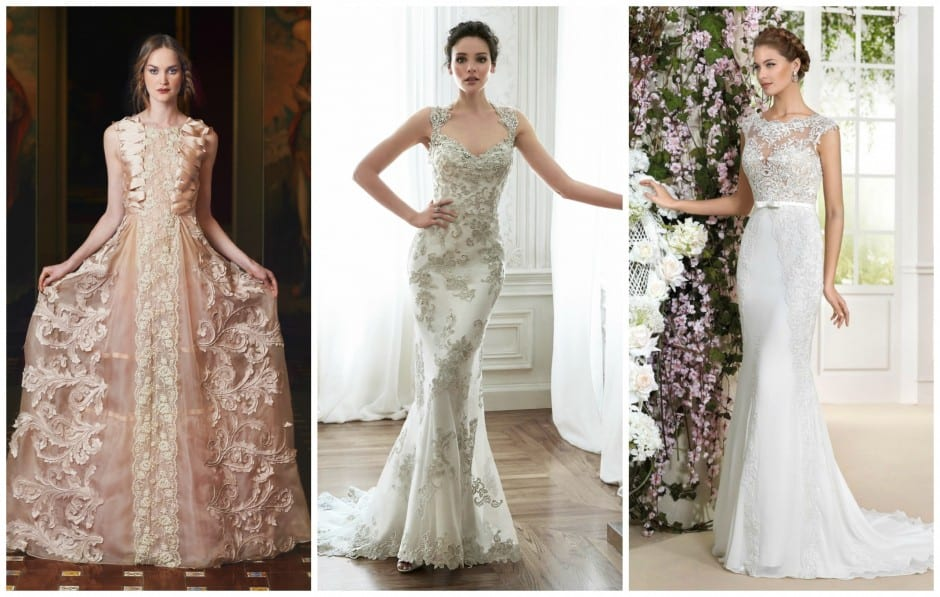 3D detailing is a key bridal trend for 2016. View more 3D detailing at Morgan Davies Bridal.
