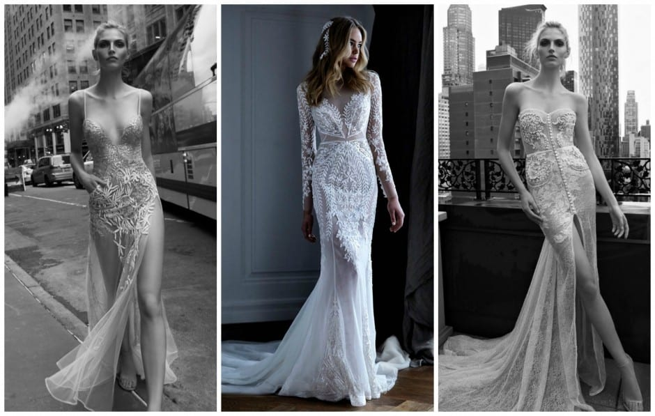 See-through silhouettes, peekaboo lace detailing and illusion panels. Bridal Fashion Trends 2016.