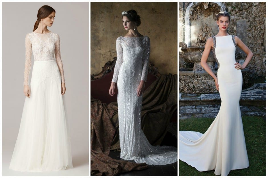 Bridal Fashion Trends 2016 - Full coverage gowns at Morgan Davies Bridal. High necklines, long sleeves.