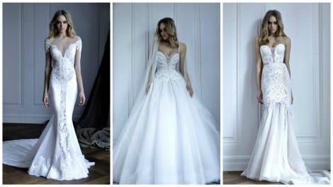 Bridal gowns from the Pallas Couture 2016 collection. Now available exclusively at Morgan Davies Bridal.