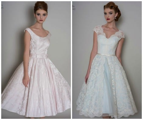 Gowns from LouLou, 1950's and 1960's style vintage gowns from Morgan Davies Hitchin boutique.