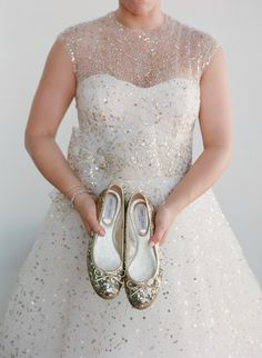 Wedding Flats - Sparkly Shoes 1