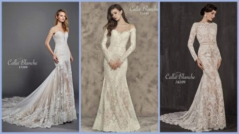 Calla Blanche Wedding Dresses are now available at Morgan Davies Bridal in Islington, London.