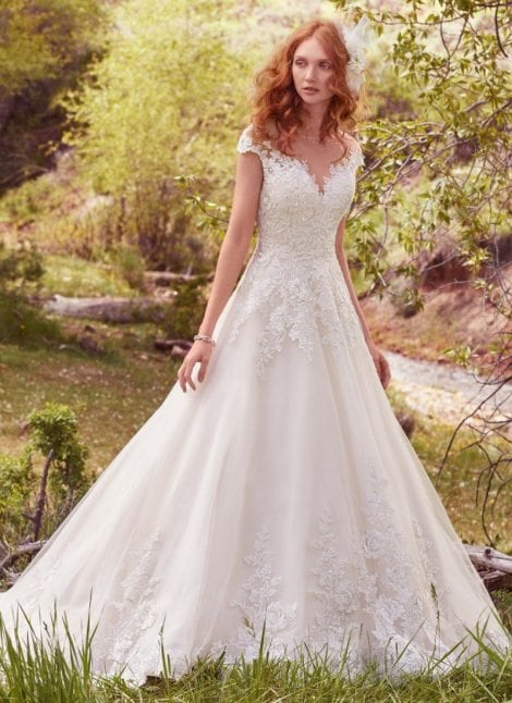 Lena by Maggie Sottero great for curvier brides