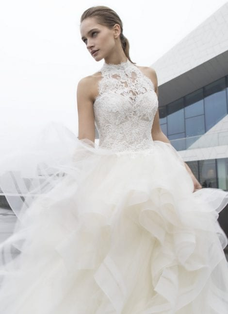 Modeca Bridal now available at Morgan Davies Bridal in Hitchin, Hertfordshire. This gown is Bliss by Modeca