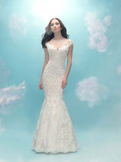 Allure Bridals in Hertfordshire. The 2017 Fall Collection is now available at Morgan Davies Bridal on Sun Street in Hitchin, Hertfordshire. 9474F