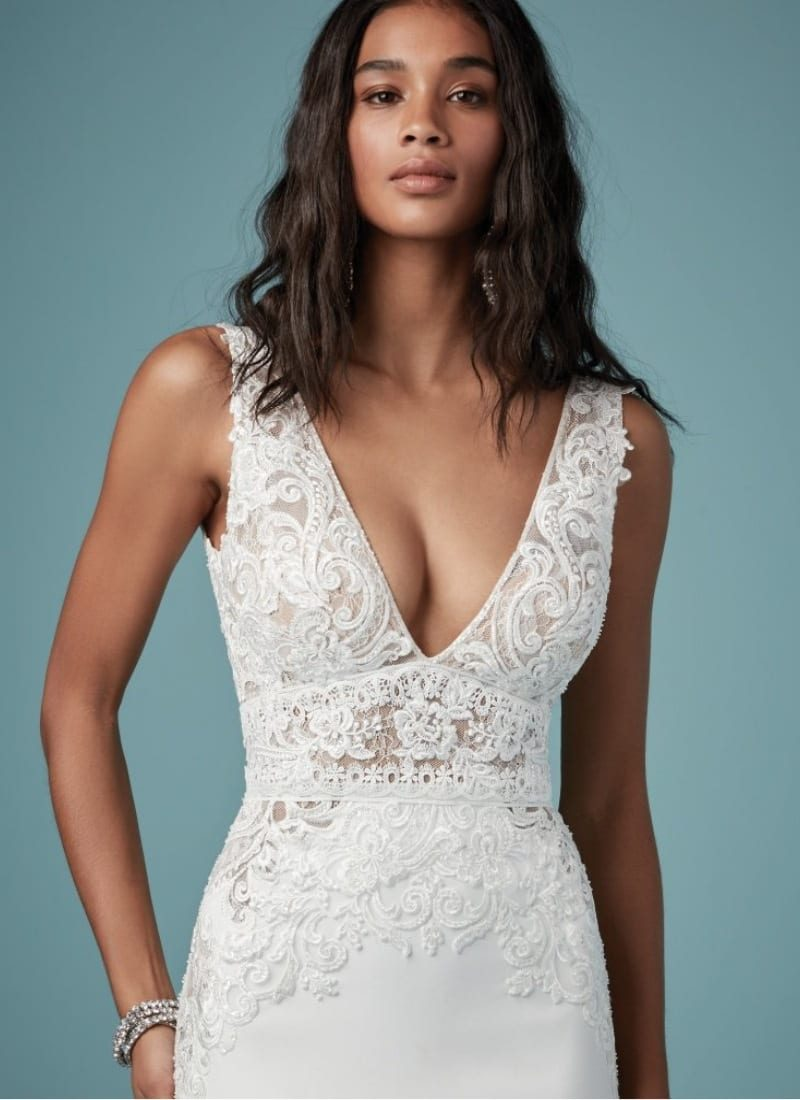 Aidan by Maggie Sottero Bodice Detail