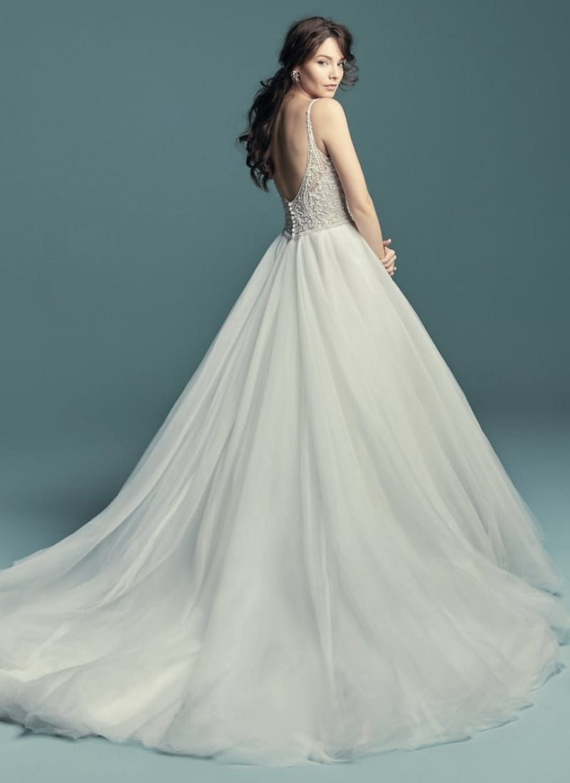 Maggie Sottero Wedding dress Lucca back