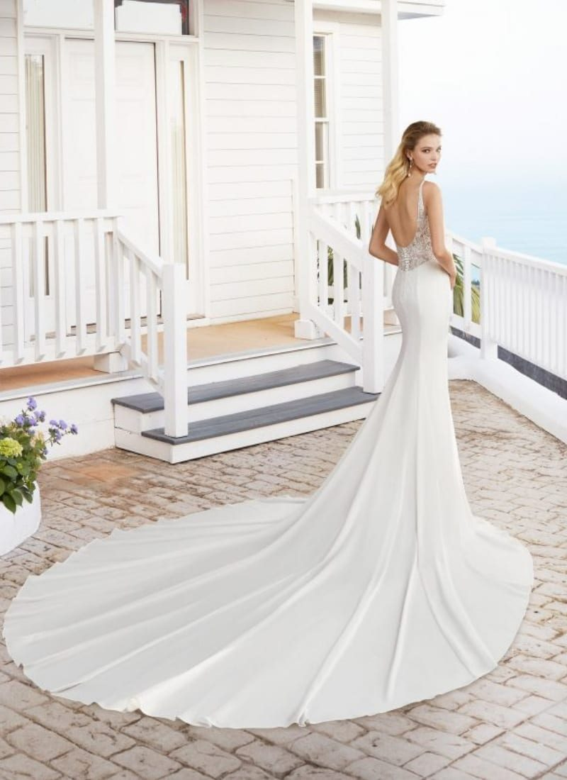 Rosa Clara Catania wedding dress back view