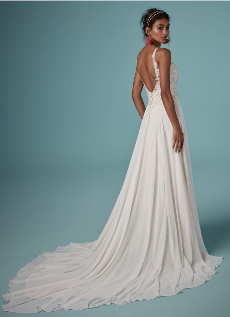 Back of Maggie Sottero Melody